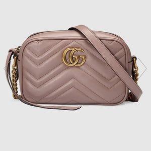 Gucci GG Marmont Matelasse Mini Bag - Dusty Pink